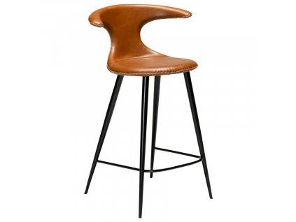 Barová židle DanForm Flair 90 cm, ekokůže, vintage hnědá