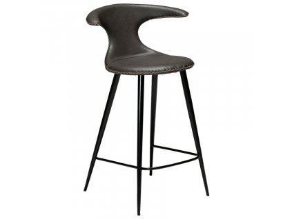 Barová židle DanForm Flair 90 cm, ekokůže, vintage šedá