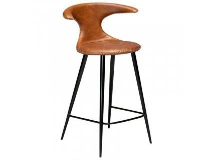 Barová židle DanForm Flair 90 cm, kůže, hnědá