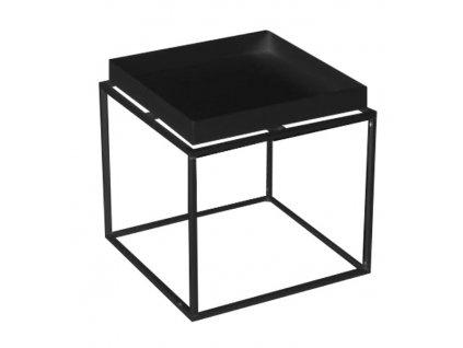 Černý kovový odkládací stolek Ronald L