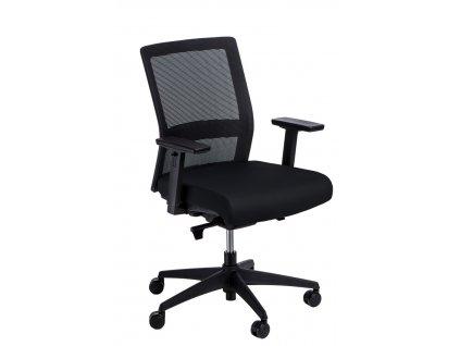 Černé čalouněné kancelářské křeslo Milneo