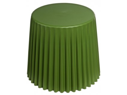 Zelený plastový odkládací stolek Cork 38 cm