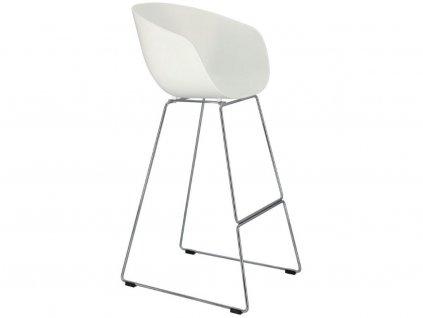 Bílá plastová barová židle Cascare 79 cm
