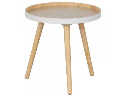 Bílý dřevěný konferenční stolek Aisha 41 cm