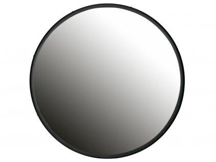 Černé kovové kulaté závěsné zrcadlo Warwick 80 cm