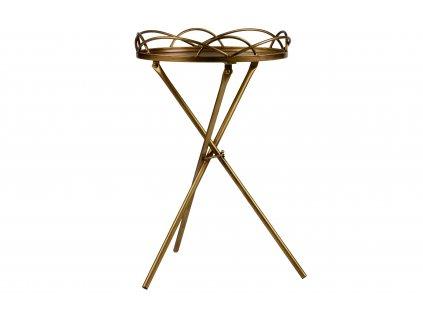 Kovový odkládací stolek Antique