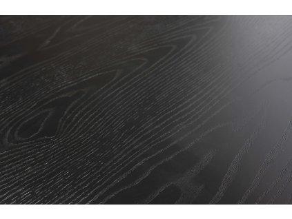 Černý dřevěný kulatý jídelní stůl Arisa 120 cm
