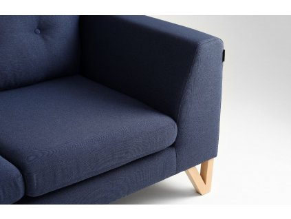 Modrá látková rozkládací pohovka Sonny 170 cm