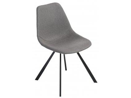 Šedá čalouněná jídelní židle Vin