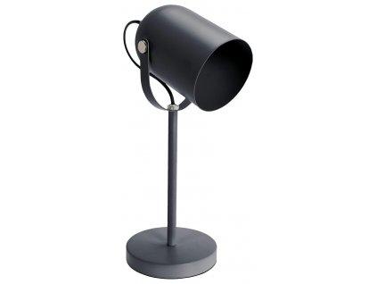 Matně šedá stolní kovová lampa Maisy