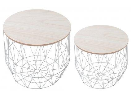 Set dvou šedých konferenčních stolků Ruby