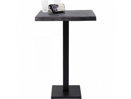 Černý barový stůl Pure Nature Central Base 70x70 cm s kovovou podnoží