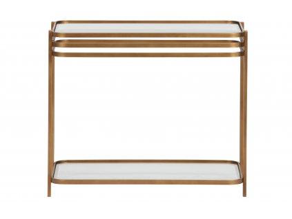 Mosazný kovový konferenční stolek Sophia 36 x 60 cm
