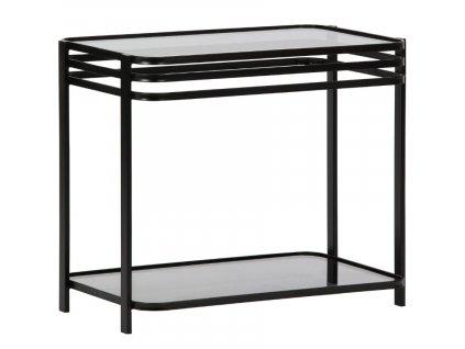 Černý kovový konferenční stolek Sophia 36 x 60 cm