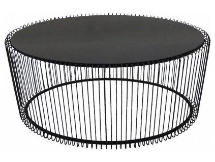 Černý konferenční stolek Wire Uno 60×90 cm
