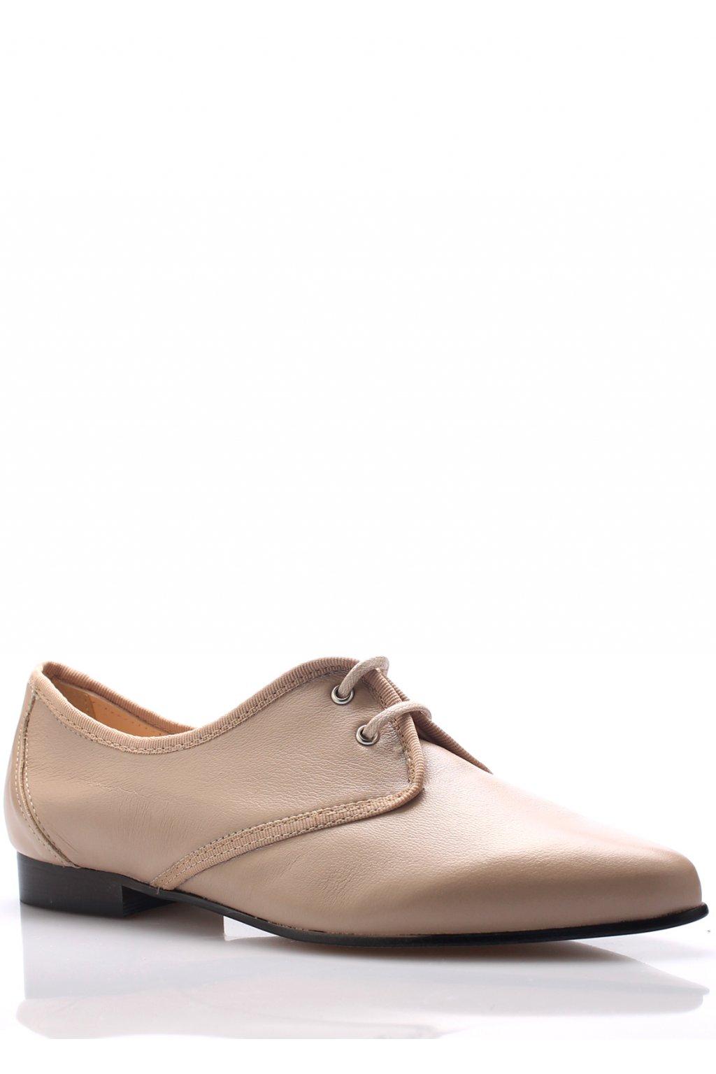 Béžové kožené boty se špičkou Maria Jaén