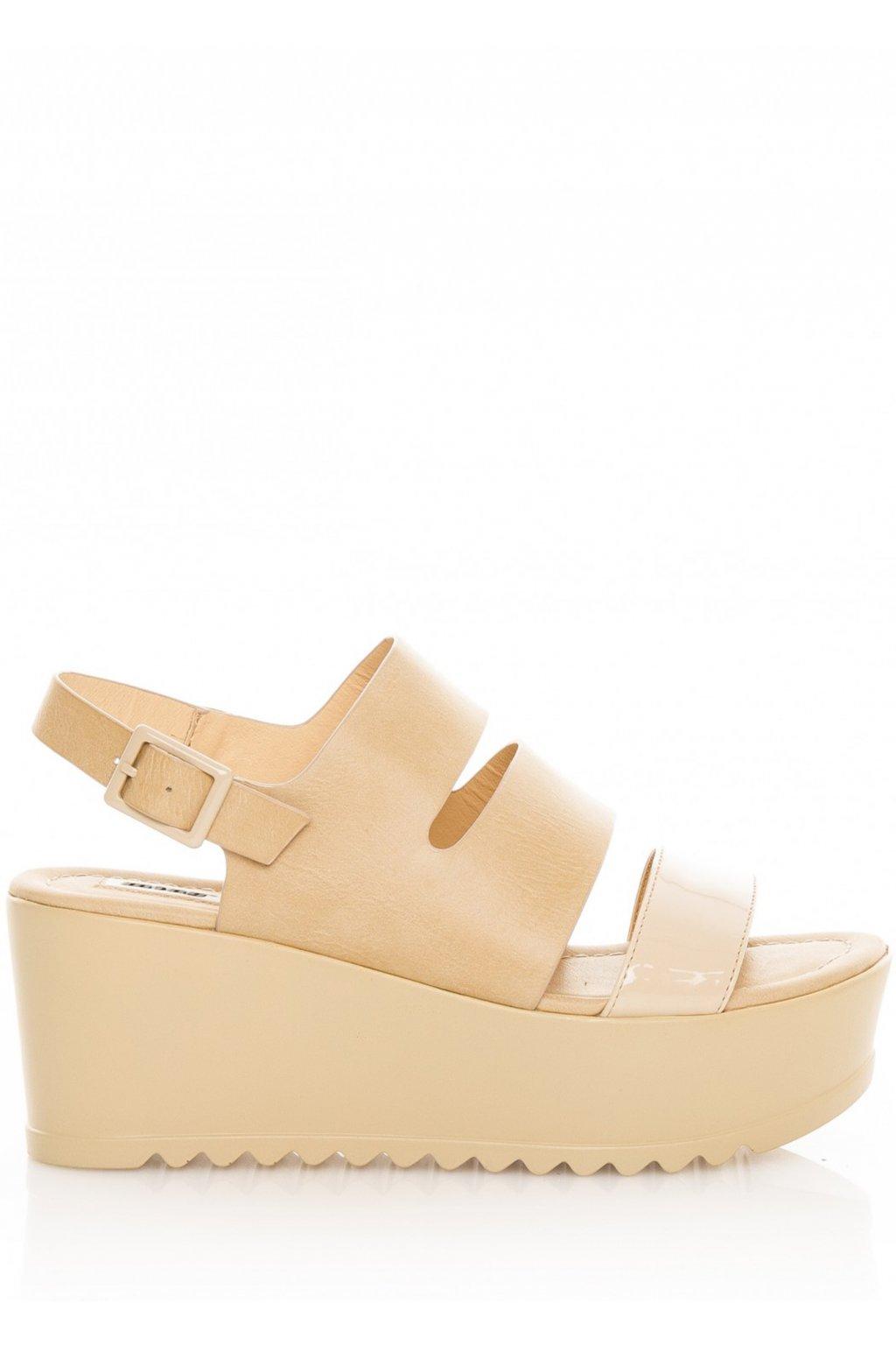 Béžové sandály na platformě MTNG