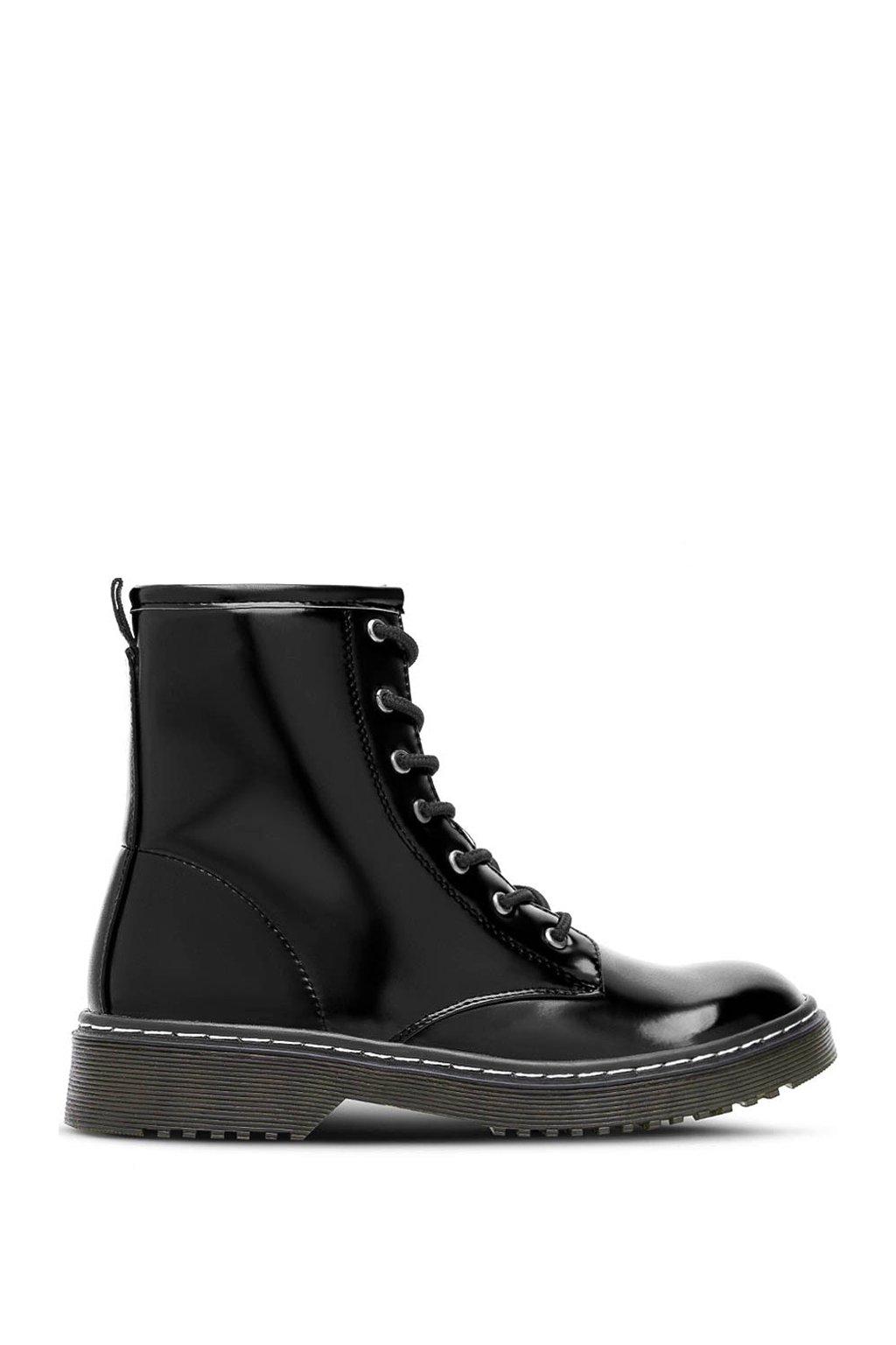 Černé kotníkové šněrovací boty Break&Walk