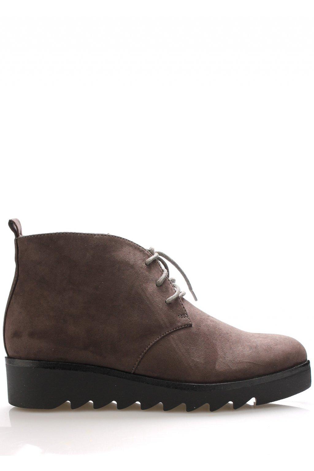 Šedé kotníkové boty s tkaničkami Claudia Ghizzani