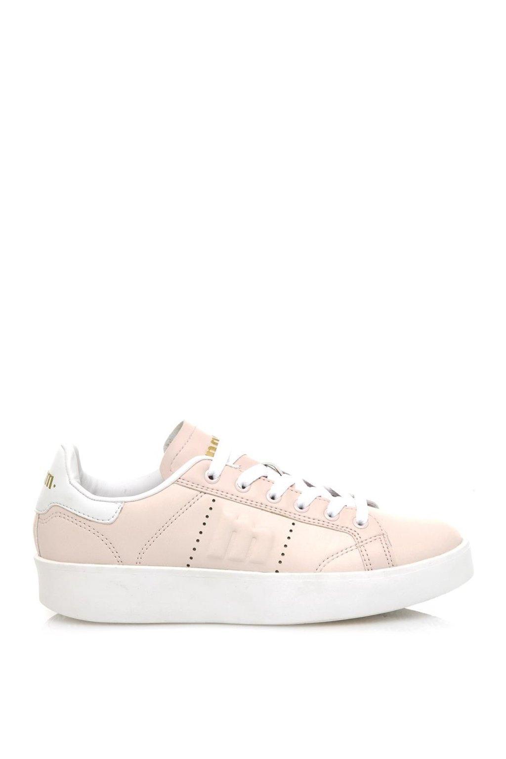 Růžové tenisky s bílou podrážkou MTNG