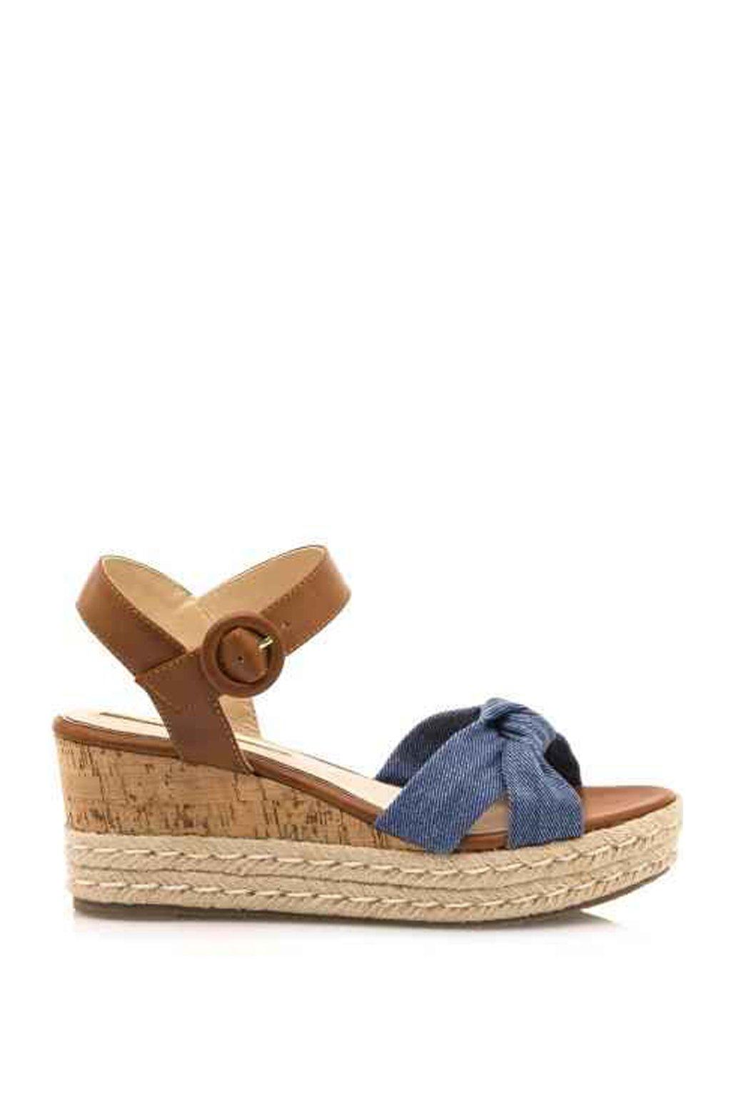 Denimové letní sandály na platformě Maria Mare