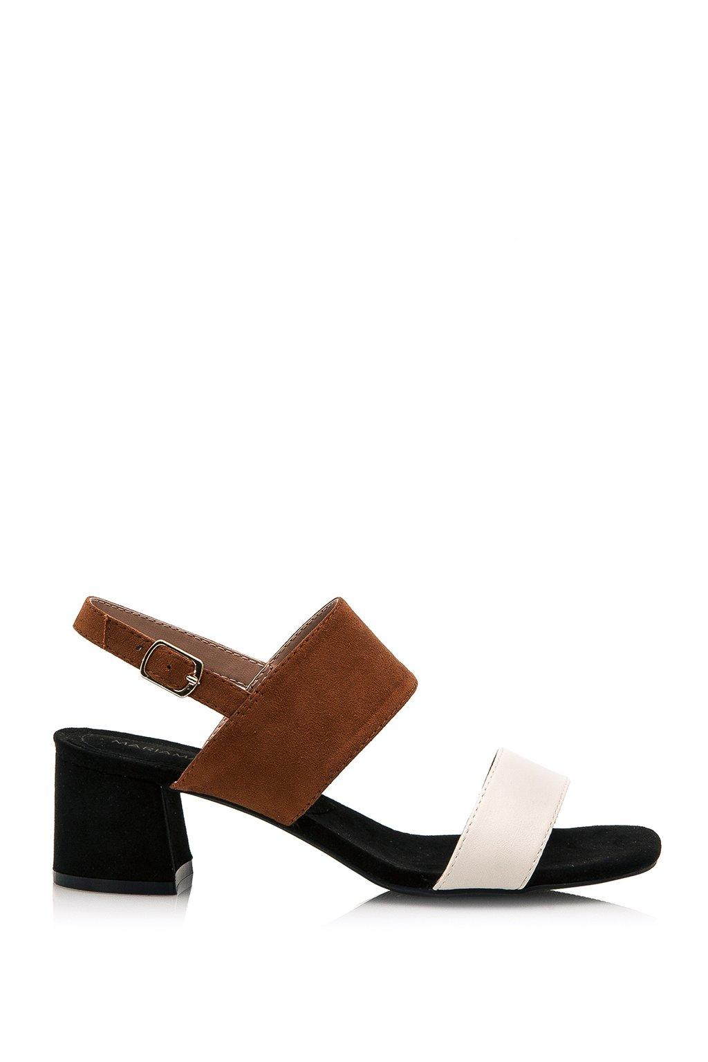 Hnědé sandálky se širšími pásky Maria Mare