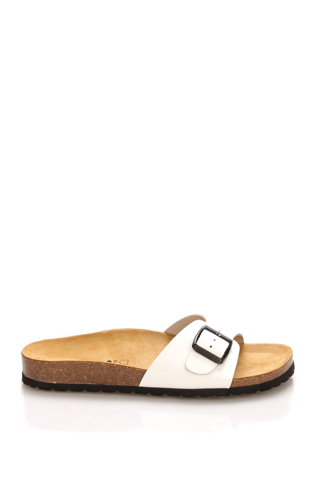 bile nizke kozene zdravotni pantofle emma shoes1