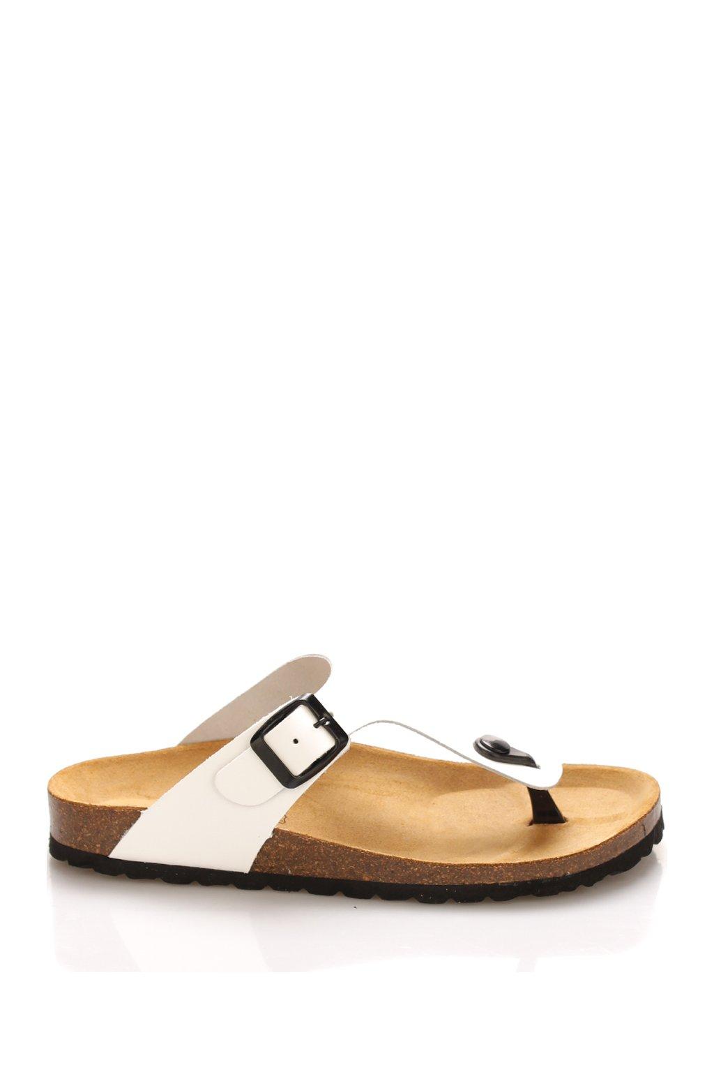 bile kozene zdravotni pantofle emma shoes 21