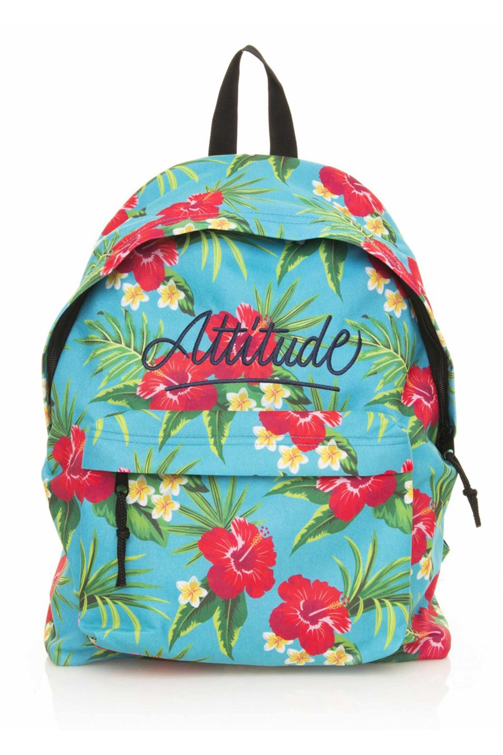 Světle modrý květovaný batoh MTNG