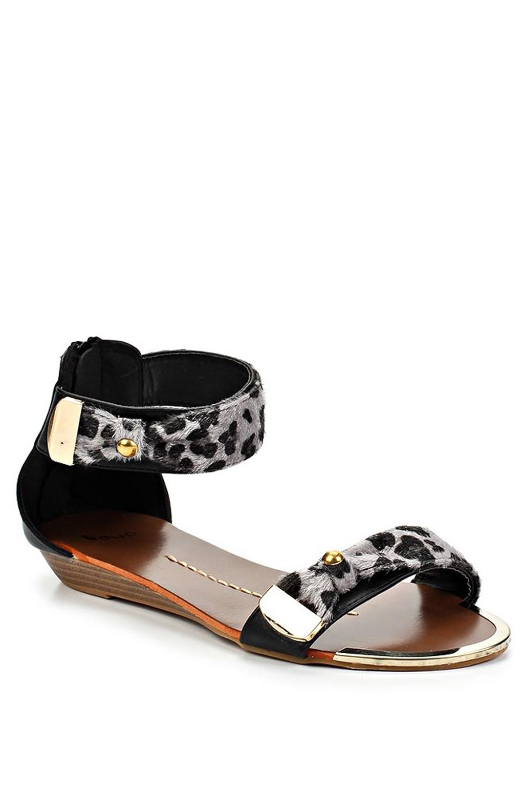 Černé leopardí sandálky Timeless Sarah