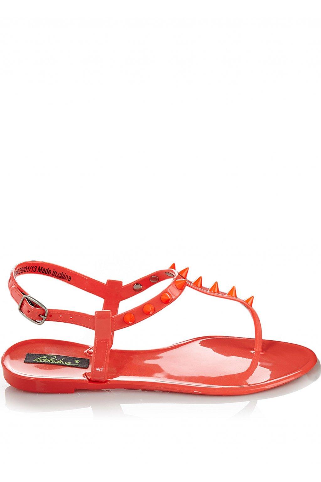 Korálové plastové jelly sandálky s hroty Park Lane