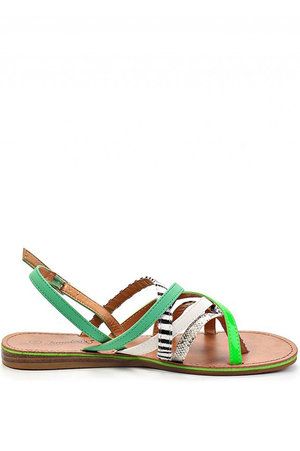 Barevné páskové zebra-snake sandály Timeless