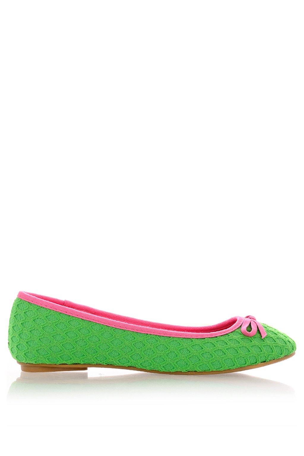 Pletené zelené baleríny Qube