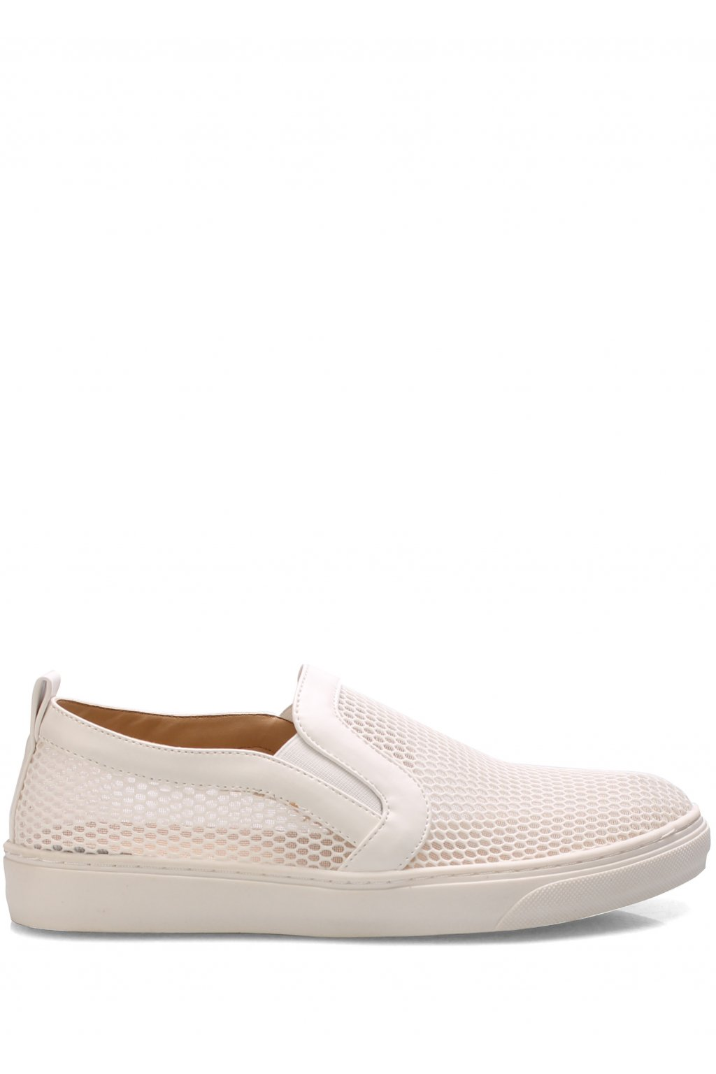 Bílé síťované nazouvací boty Trendy too