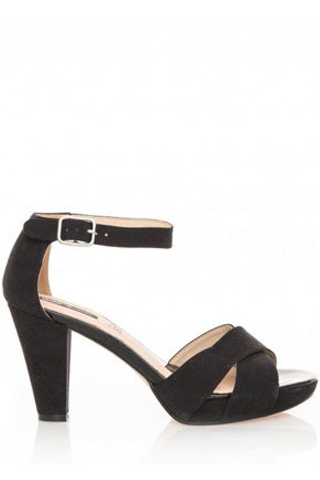Černé sandály na širším podpatku MTNG