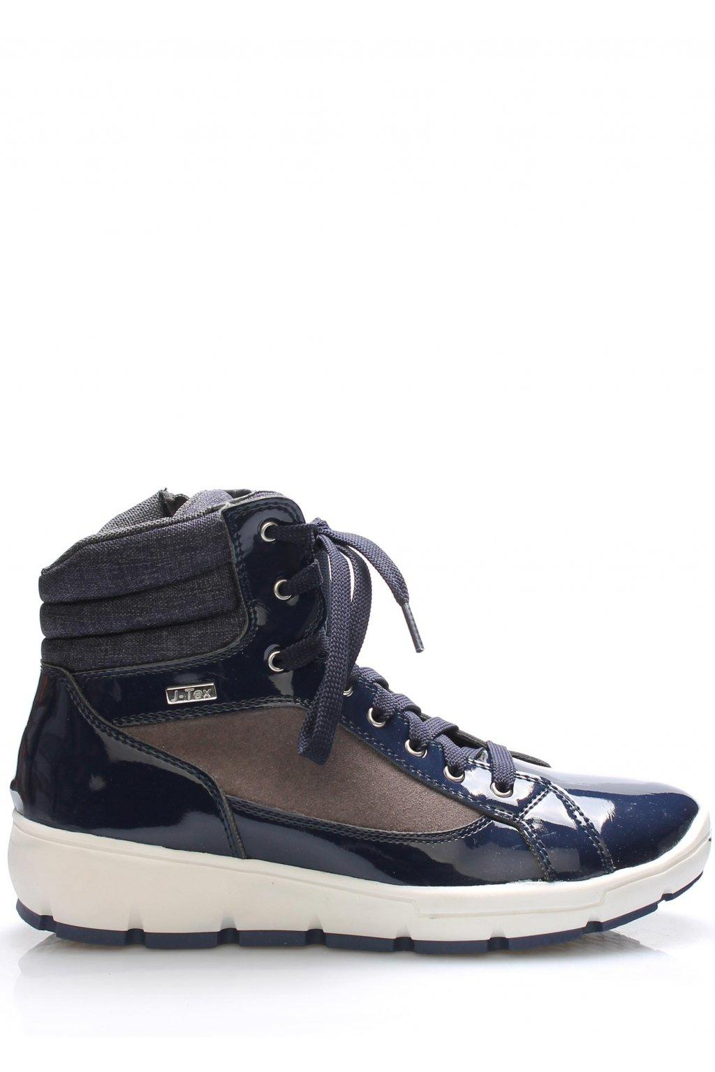 Tmavě modré italské zimní boty M&G