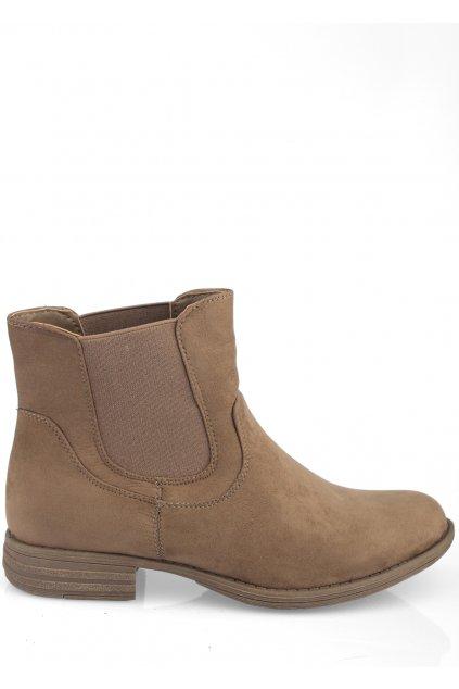 Hnědé kotníkové boty s pérky Claudia Ghizzani