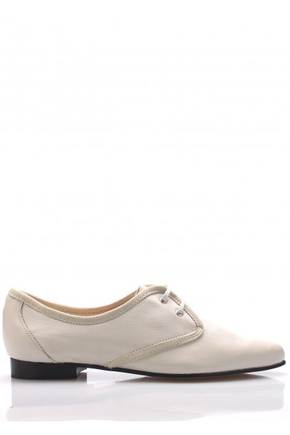 Bílé kožené boty se špičkou Maria Jaén