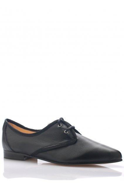Černé kožené boty se špičkou Maria Jaén