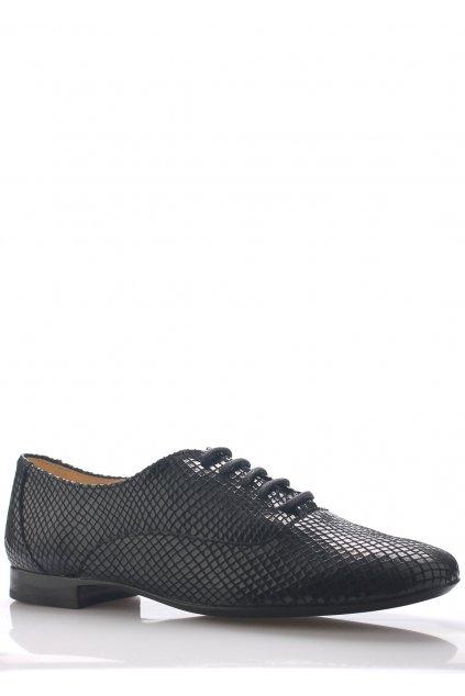 Černé kožené boty s hadím vzorem Maria Jaén