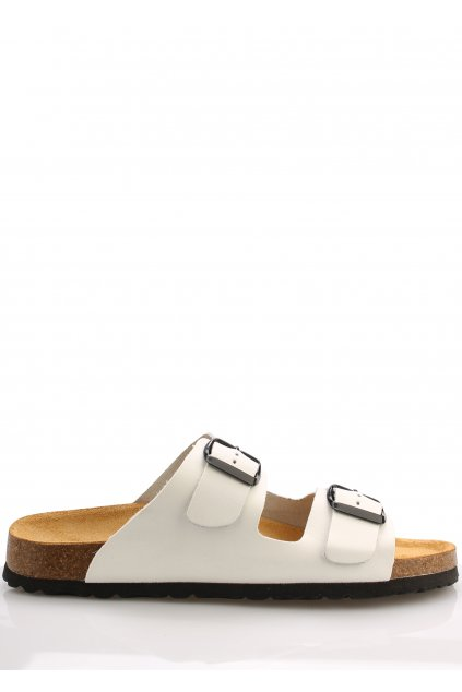 Bílé kožené zdravotní pantofle EMMA Shoes