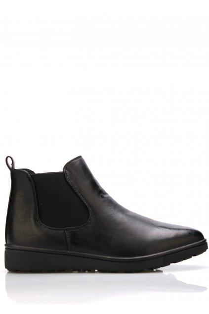 Černé kotníkové boty s klínkem Claudia Ghizzani