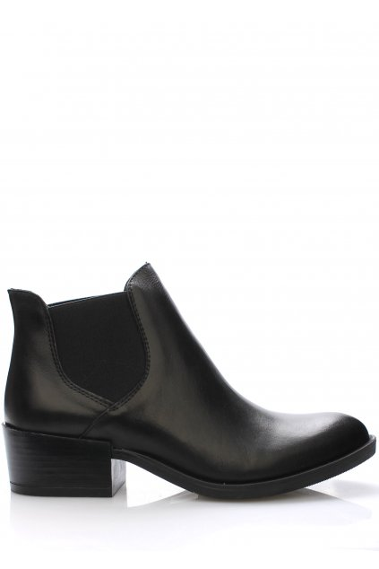 Černé italské kožené boty pérka V&C