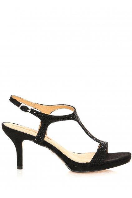 Černé sandály na nízkém podpatku MARIA MARE