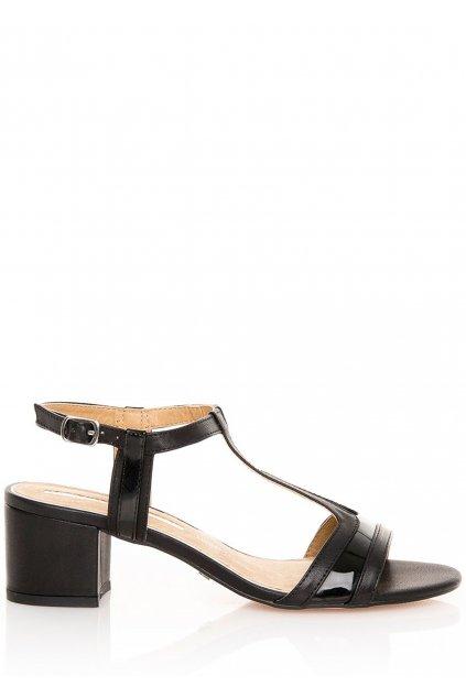 Černé sandály na širokém podpatku MARIA MARE