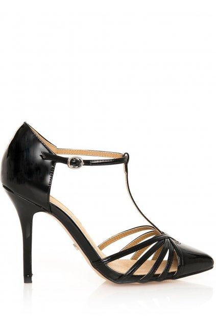 Černé sandály na jehlovém podpatku MARIA MARE