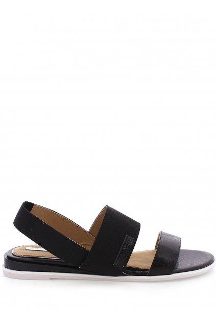 Černé elastické sandálky MARIA MARE