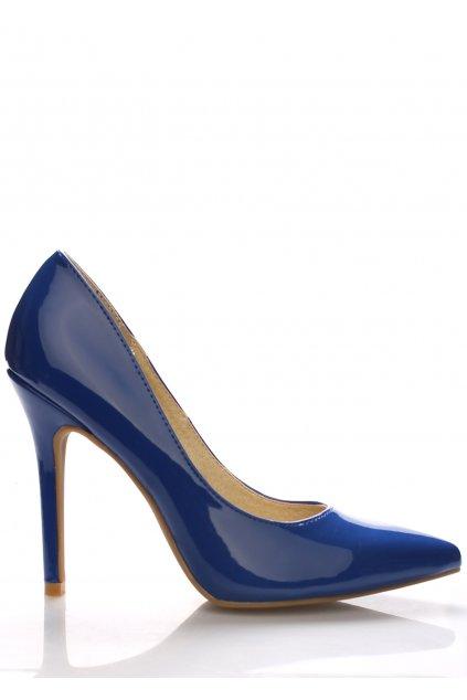 Modré lesklé lodičky Monshoe