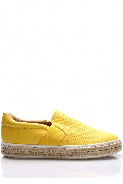Žluté nazouvací tenisky s espadrilovou podrážkou Trendy too