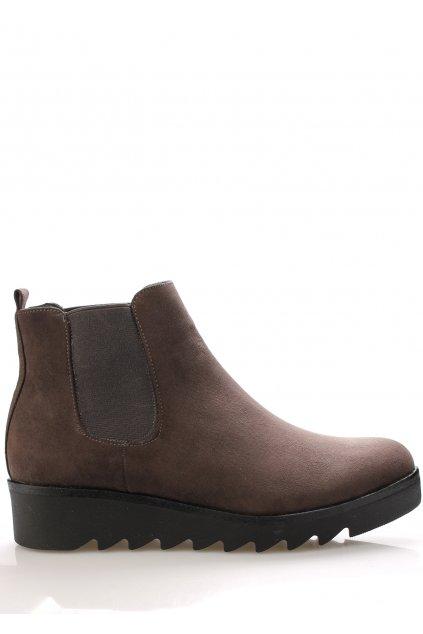 Šedé kotníkové boty s elastickou částí Claudia Ghizzani